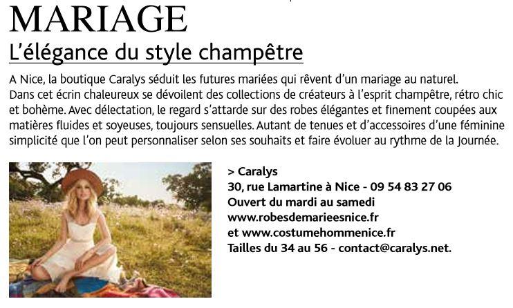 Article Fémina Hebdo : «L'élégance du style champêtre»