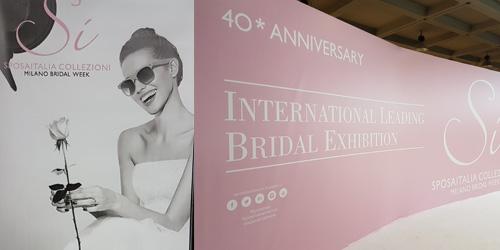 Le merveilleux Salon du Mariage Sì SposaItalia Collezioni 2018 de Milan
