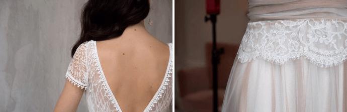 Utilisation de la soie et de dentelles françaises pour ses robes de mariées