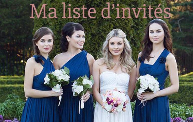 Spécial organisation mariage : la liste des invités
