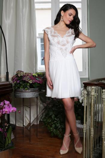 Robe de mariée courte Geneviève Elsa Gary