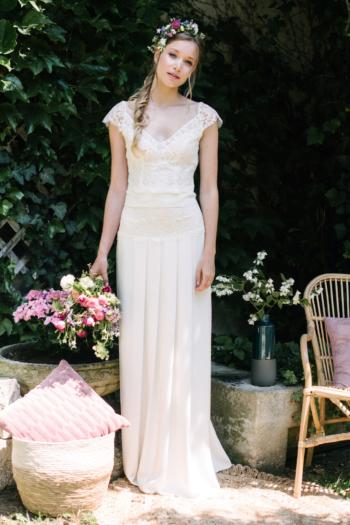 Robe de mariée rétro Albertine Elsa Gary