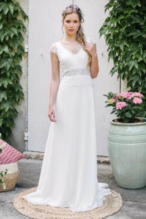 Robe de mariée rétro Pyrite Elsa Gary