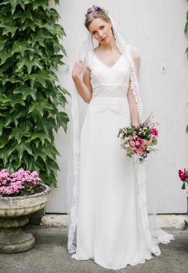 Robe de mariée rétro Swan Elsa Gary