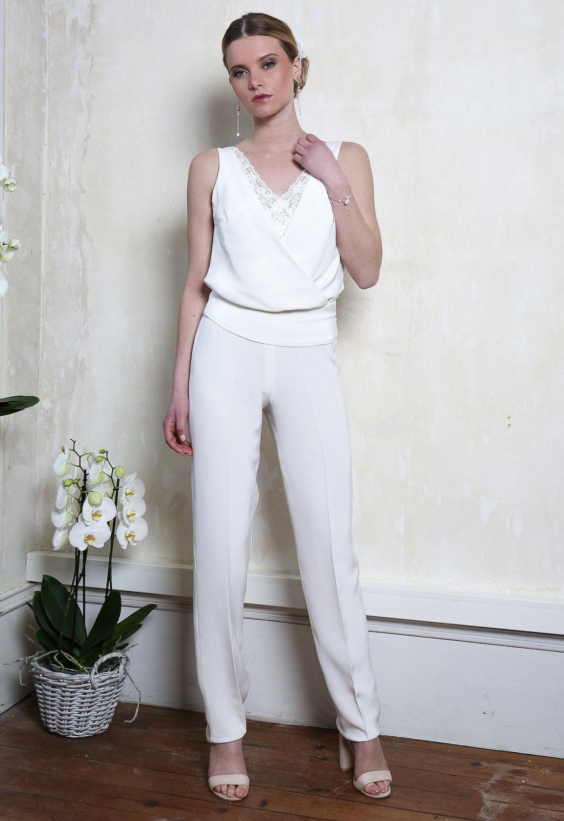 gamme complète d'articles 100% qualité garantie obtenir pas cher Tenue de mariée pantalon Valérie Elsa Gary. Caralys Mariage ...