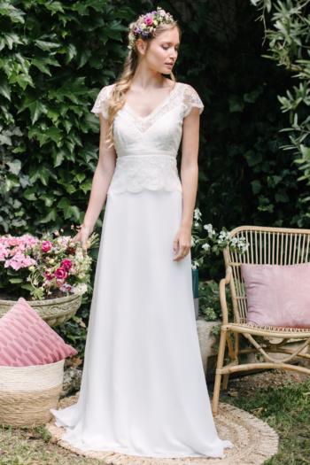 Robe de mariée rétro Alix Elsa Gary