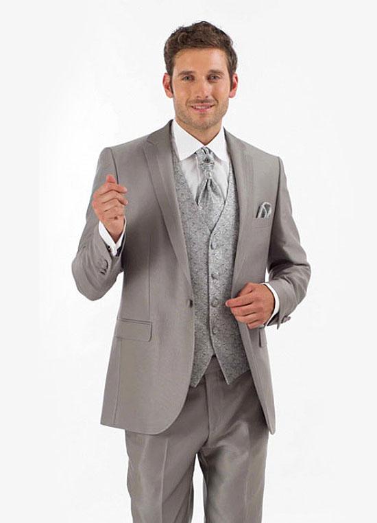 Costume de marié gris Hit soldé