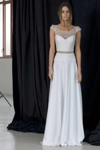 Robe de mariée bohème Aimée Lambert Créations