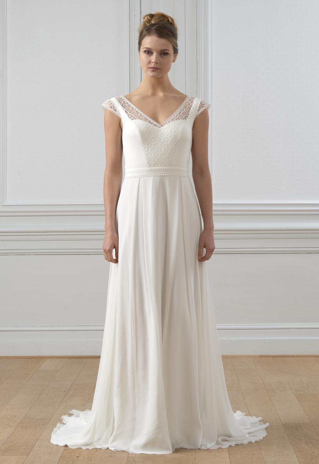 Robe de mariée bohème Alma Lambert Créations,