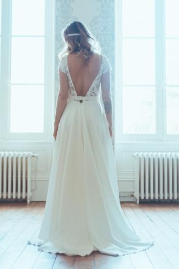 Robe de mariée rétro Anne Elsa Gary