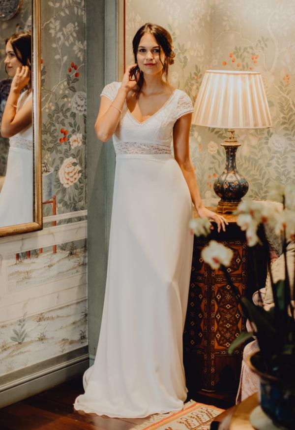 Robe de mariée rétro Camélia Elsa Gary
