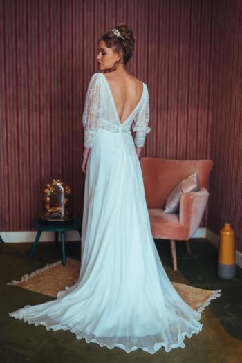 Robe de mariée rétro Cloé Elsa Gary