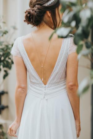Robe de mariée rétro Floriane Elsa Gary