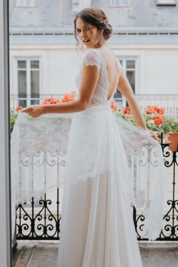 Robe de mariée rétro Raiponce Elsa Gary