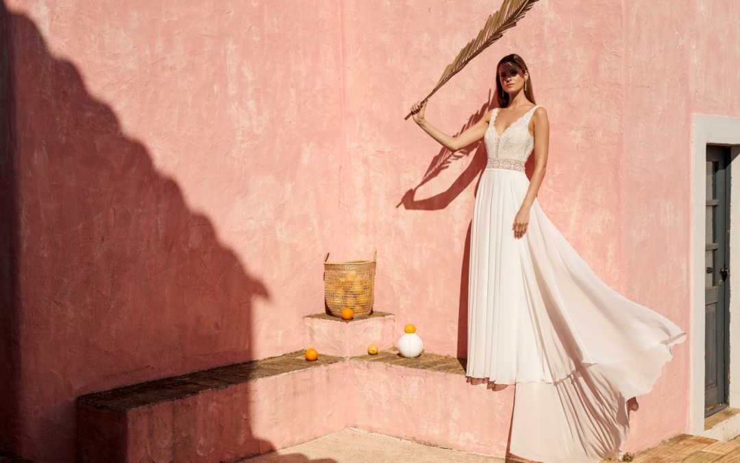 Les robes de mariées de la rentrée 2019 – 2020: entre simplicité et design chez Marylise