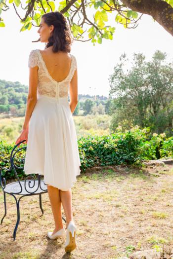 Robe de mariée courte Cornaline Elsa Gary