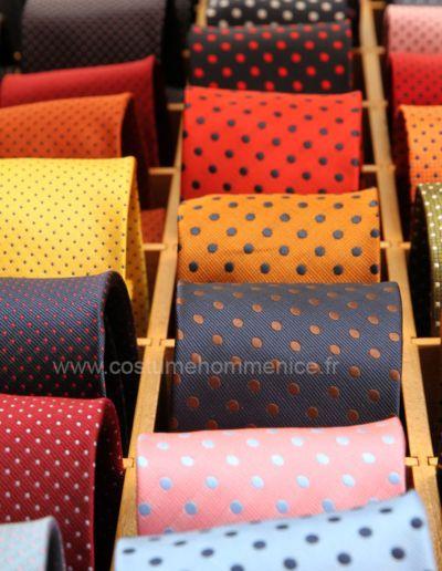 Cravates, lavallières, cravatones, cravallières, ascotts réalisables dans 300 coloris  - Caralys Nice - Alpes Maritimes (06)
