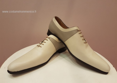 11869-beige - Chaussures personnalisables en cuir - Caralys Nice - Alpes Maritimes (06)