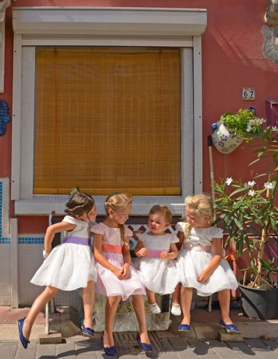Robe de demoiselle d'honneur et de communion - ivoire ou blanc - Caralys Nice - Alpes Maritimes (06)
