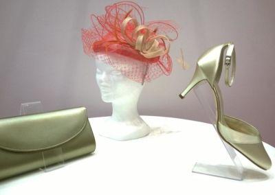 Chaussures et sacs de cocktail, soirée et cérémonie teintés à la demande - chapeaux et coiffes- Caralys Nice - Alpes Maritimes (06)