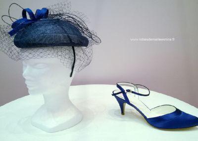 Chaussures de cocktail, soirée et cérémonie teintées à la demande - chapeaux et coiffes- Caralys Nice - Alpes Maritimes (06)