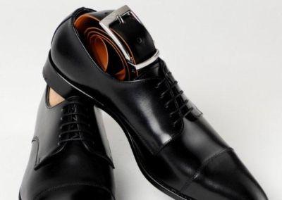 9058 Noir + ceinture - Chaussures personnalisables en cuir - Caralys Nice - Alpes Maritimes (06)