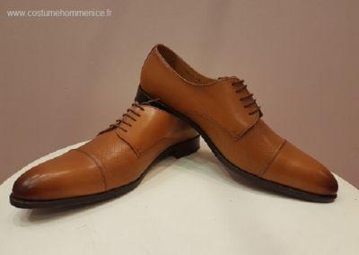 9058- miel - Chaussures personnalisables en cuir - Caralys Nice - Alpes Maritimes (06)