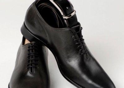 9292 gris + ceinture - Chaussures personnalisables en cuir - Caralys Nice - Alpes Maritimes (06)