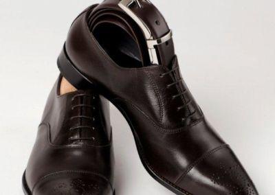 9295 Marron+ceinture - Chaussures personnalisables en cuir - Caralys Nice - Alpes Maritimes (06)