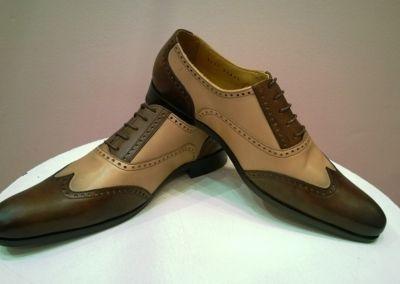 9417 marron beige - Chaussures personnalisables en cuir - Caralys Nice - Alpes Maritimes (06)