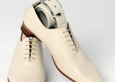 9634 beige + ceinture - Chaussures personnalisables en cuir - Caralys Nice - Alpes Maritimes (06)