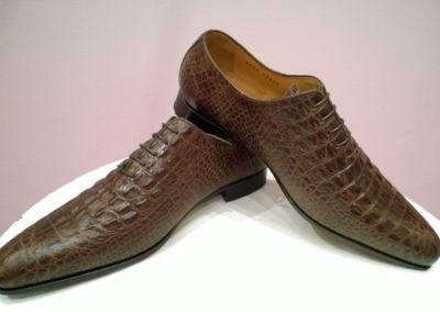 9634 croco marron - Chaussures personnalisables en cuir - Caralys Nice - Alpes Maritimes (06)