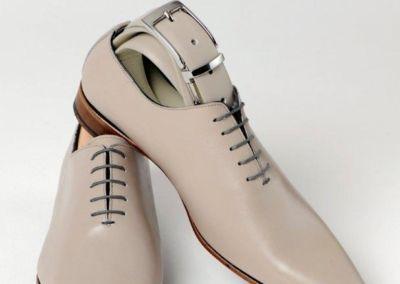 9634 gris clair + ceinture - Chaussures personnalisables en cuir - Caralys Nice - Alpes Maritimes (06)