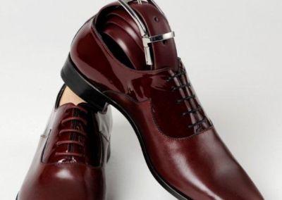 9679 bordeaux + ceinture - Chaussures personnalisables en cuir - Caralys Nice - Alpes Maritimes (06)