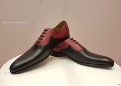 9679-bordeaux - Chaussures personnalisables en cuir - Caralys Nice - Alpes Maritimes (06)