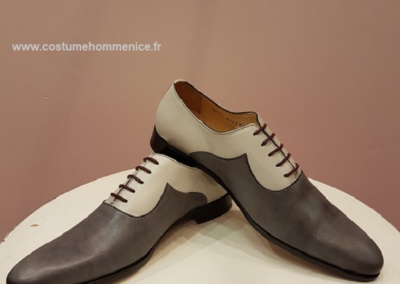 9679-gris - Chaussures personnalisables en cuir - Caralys Nice - Alpes Maritimes (06)