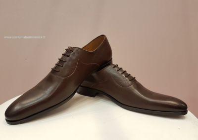 9679-marron - Chaussures personnalisables en cuir - Caralys Nice - Alpes Maritimes (06)