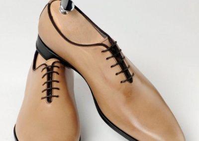 9680 beige patiné - Chaussures personnalisables en cuir - Caralys Nice - Alpes Maritimes (06)