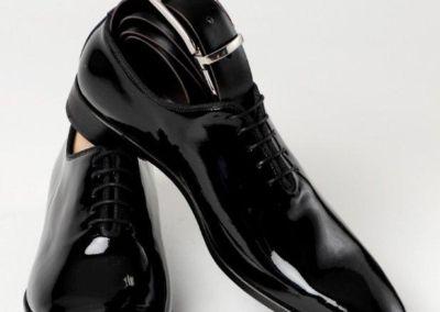 9680 vernis noir + ceinture - Chaussures personnalisables en cuir - Caralys Nice - Alpes Maritimes (06)