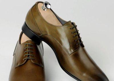 9685 kaki patiné - Chaussures personnalisables en cuir - Caralys Nice - Alpes Maritimes (06)
