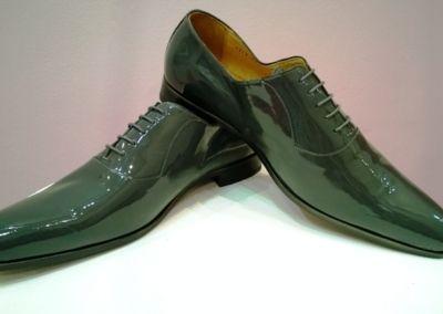 9828 gris foncé vernis - Chaussures personnalisables en cuir - Caralys Nice - Alpes Maritimes (06)