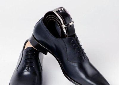 9828 marine + ceinture - Chaussures personnalisables en cuir - Caralys Nice - Alpes Maritimes (06)