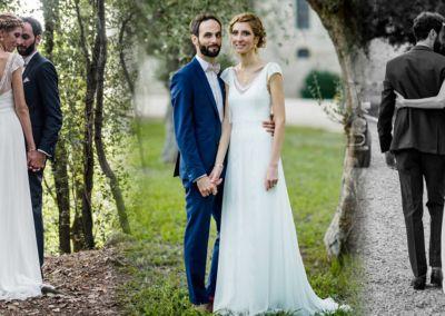 """Ariane: Mariage le 22 Octobre 2016 avec le modèle Esprit (photos Ivan Franchet). """"La journée était parfaite, nous nous sommes régalés !! Je n'ai eu que des compliments sur ma robe, tout le monde m'a dit qu'elle était faite pour moi ! Et mon mari l'a trouvée superbe ! :) Merci pour votre patience pour toutes les sessions retouches !"""" Ariane"""