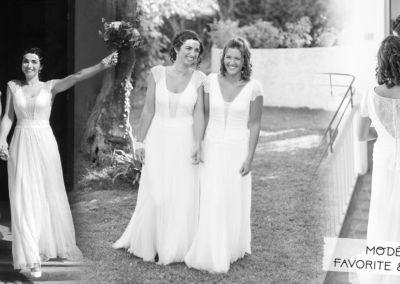 """Audrey+Jessy : Mariage le 16 Septembre 2017 avec les robes Favorite et Evidence. """"Bonjour Gabriella, Nous tenions à vous remercier votre accompagnement dans cette fabuleuse aventure qu'à été le mariage pour nous. Nos robes ont éblouis tous nos invités et certaines d'entres elles nous ont demandé vos coordonnées. Encore une fois mille mercis pour votre douceur et gentillesse. Bien à vous"""" Audrey & Jessy"""