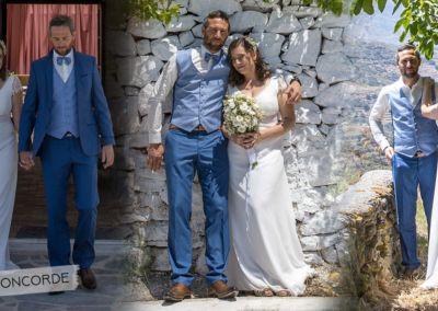 Elodie et Pierre Yves : mariage le 8 Mai 2019 avec le modèle Concorde et Pierre avec une costume 2 pièces et gilet sur mesure.