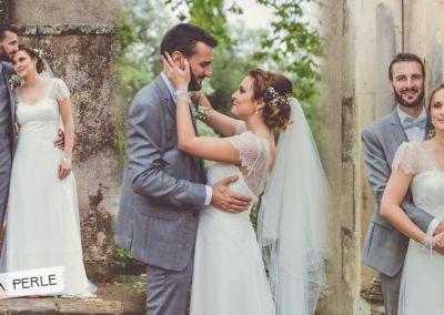 """Irina: Mariage le 9 Septembre 2017 avec la robe Luna. """"Nous avons eu un très beau mariage, nous sommes très contents et satisfaits. J'ai eu de très très bons retours pour ma robe de mariée. Elle a été juste parfaite pour moi, je l'adore, super confortable, belle, élégante et très délicate. Merci pour votre aide et conseil"""". Irina."""