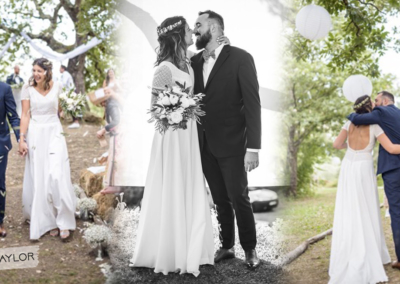 """Jade: Mariage le 25 Août 2018 avec le modèle Taylor. """"Ma robe a fait sensation, elle était juste parfaite! Merci pour tout."""" Jade"""