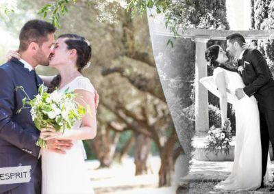 Jessica et Florent: Mariage le 29 Juillet 2017 avec la robe Esprit et un costume prêt à porter.