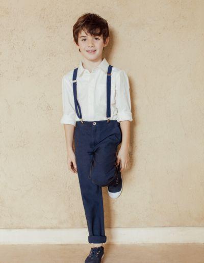 Ensemble gilet + pantalon mariage marine pour petit garçon - Caralys Nice - Alpes Maritimes (06)