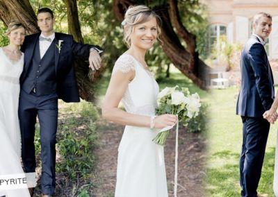 """Lynda: Mariage le 25 Mai 2018 avec le modèle Pyrite .""""Nous avons passé une superbe journée et j'ai adoré porter ma robe!! Merci beaucoup"""". Lynda"""